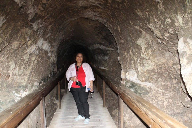 An impressive underground tunnel built leading to the water system in Meggido which supplied the resource to the whole city.