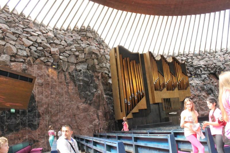 The famous organ at the Temppeliaukio Church