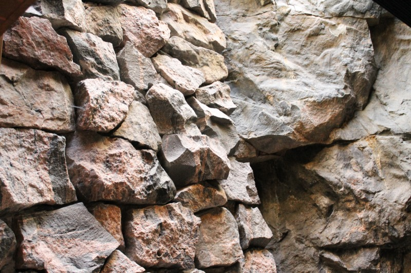 Detail of the rock which is the main structure of the Temppeliaukio Church