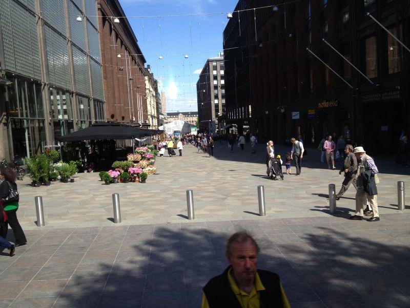 Helsinki Pedestrian Shopping area