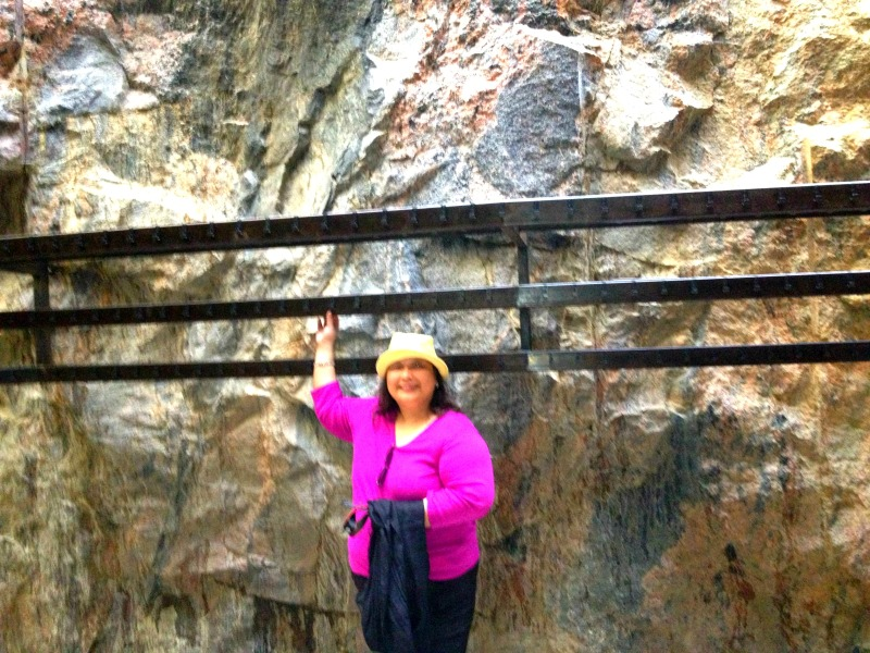 That's me standing near one of the rock walls towards the Church exit