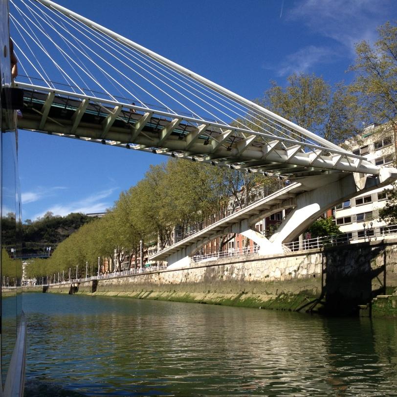 Santiago Calatrava's Zubizuri bridge adds extra beauty to Bilbao's riverside setting.