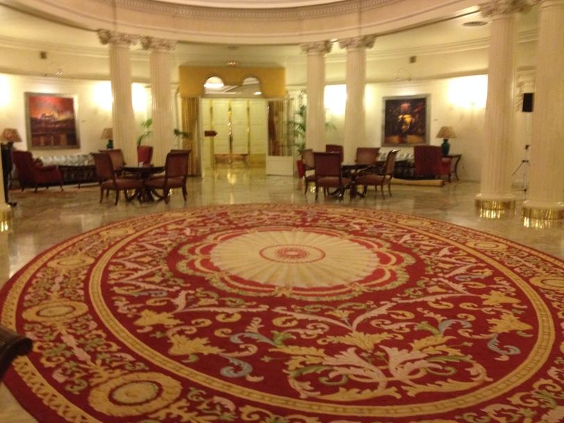 Lobby of the Carlton Hotel
